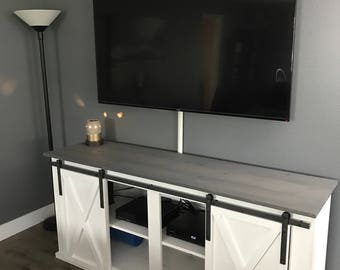 Sliding Barn Door TV Stand / Media Console