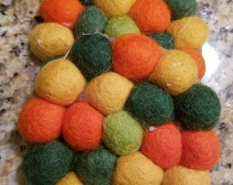 Large felt ball coaster