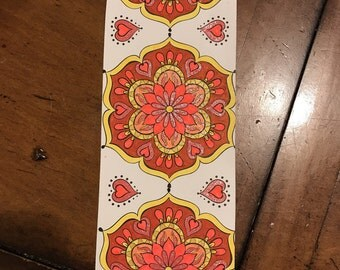 Flower bookmark colored by me