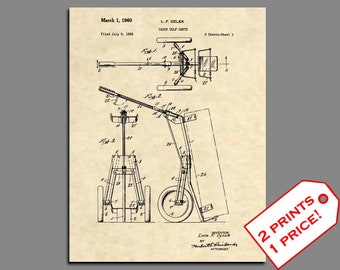 Golf Prints - Golf Club Patent Art - Vintage Patent Art Prints - Golf Home Decor - Golf Gift - Golf Prints - Golf Wall Art -Patent Print 397