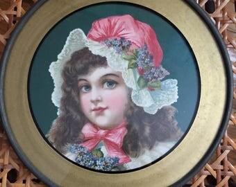 Framed print of victorian girl