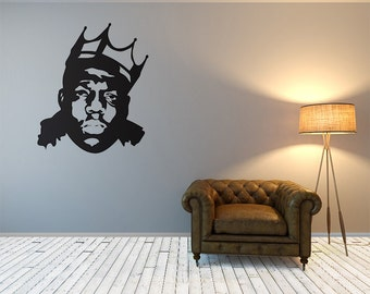 The Notorious BIG, Biggie Smalls, Biggie, Biggie Wall Decal, Hip Hop  Stickers