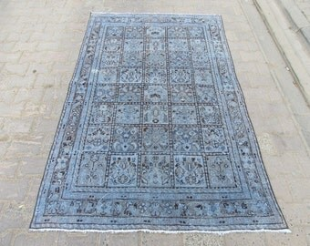 4.1x6.7 Ft Washed out shabby chic style Persian Bakhtiyari rug