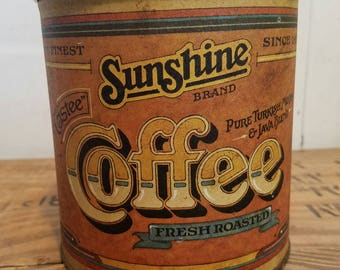 Vintage Sunshine Brand Coffee Canister
