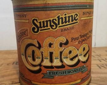 Vintage Sunshine Brand Coffee Canister