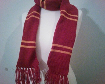 Handmade Harry Potter Gryffindor Scarf - all house colours available
