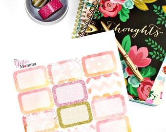 Bold & Bright| Half Boxes | Erin Condren Life Planner Vertical