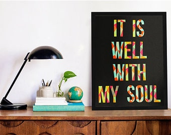 "8""x10"" It Is Well With My Soul Print"