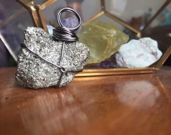 Pyrite Wire Wrap Pendant