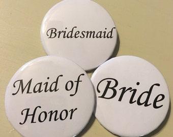 Bridal shower buttons