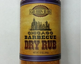 Chicago Barbecue Dry Rub by Grubbin Rubs, LLC (2) BBQ Bottles