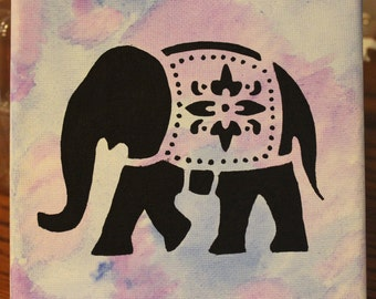 Elephant Watercolor Canvas