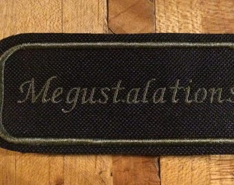 Megustalations iron on patch