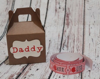 Daddy Valentine's Day box with 5 coupons