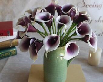 6 Pcs Plastic Artificial Calla Lilies