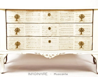 "Vintage Chest Of Drawers Line ""Musician"" IMAGINAIRE-Restyling"
