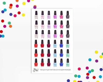 Planner Stickers- Nail Polish, Functional Stickers, Nail appointment
