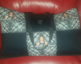 Michelle Obama tote,extra large canvas bag