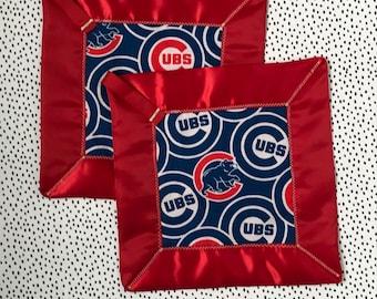 Cubs for the win! lovey blanket-security blanket-sensory blanket-baby shower gift