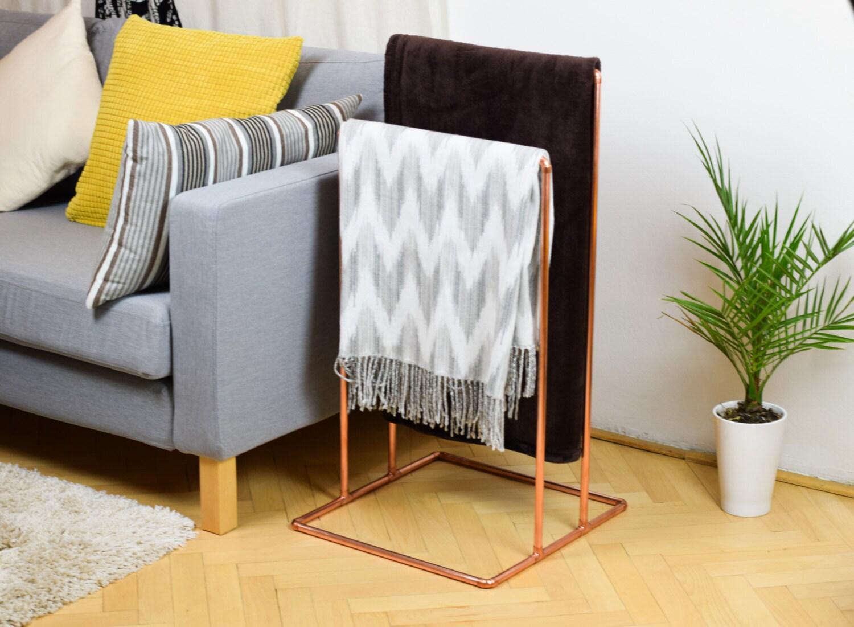 Copper Blanket Stand Copper Towel Rack Blanket Holder