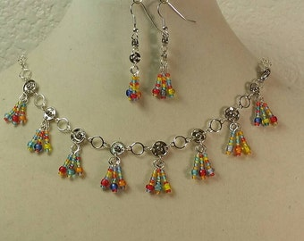 Sewing Snaps Bracelets/ Necklace & Earring set