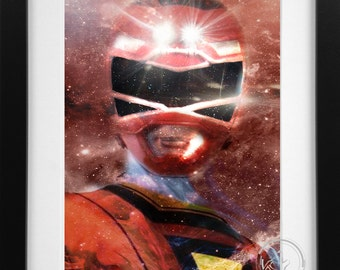 TURBO Power Rangers Movie/CarRanger Red Ranger Print