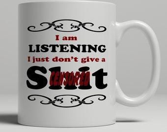 Shit mug, mature quote coffee mug, cuss mug with cuss words, cursing mug, rude mug, shit coffee mug, bored mug, work mug, UK Mug Shop RM1002