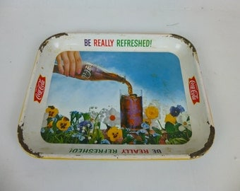 Vintage 1961 Coca Cola Tray - Be Really Refreshed! Antique Ready To Hang!