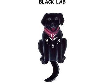 Black Lab clock