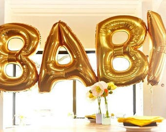 baby balloon 40 gold balloon silver balloons gold letter balloons large balloon letters custom 40 baby shower letter balloons