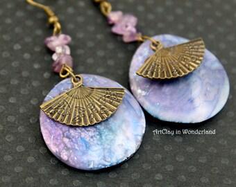 Viet Nam, Parma, Amethyst earrings