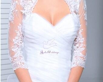 Bolero lace with 3/4 sleeves