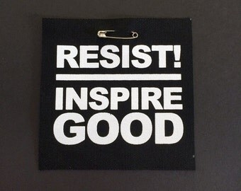 RESIST Screenprinted Punk Patch - Inspire Good