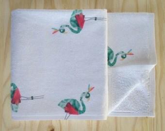 Flamingo Print Children's Bath Towel - Super Soft