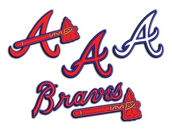 Braves embroidery design - Applique - Machine embroidery design