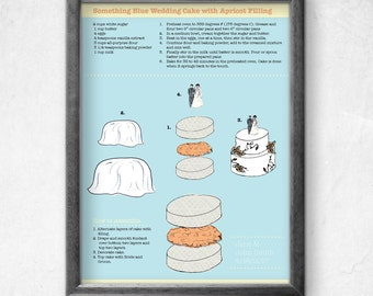 Printable Customizable Wedding Cake Illustration