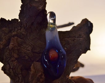 Blue Goddess. Glass Art
