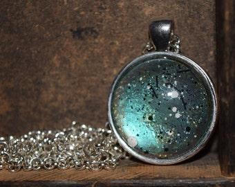 Aquamarine Galaxy Necklace