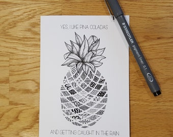Pineapple love card