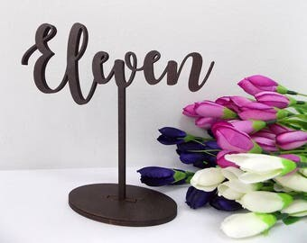 Wedding Table Numbers, Gold Table Numbers, Wooden Table Number, Freestanding Table Numbers, DIY Table Numbers, Wedding Decor, Rustic Number