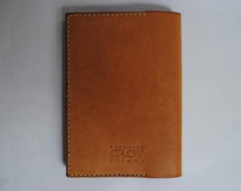 Leather passport case handmade