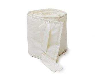 Ivory Linen crib Half Bumper Pad, Baby Bedding, Gender Neutral Bumper Pad, Crib Bumper, Baby Bumper