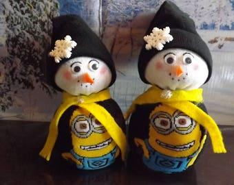 Bob The Minion Mom-Pop Snow Couple!