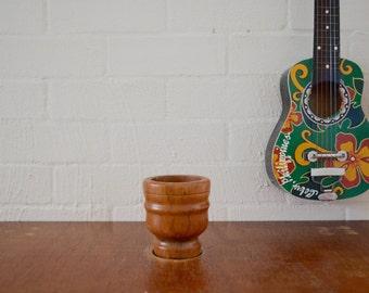 Retro vintage wooden plant pot small