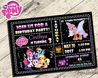 My Little Pony invitation,My Little Pony Birthday Invitation,My Little Pony Birthday Party,Invitacion My Little Pony,My little Pony partido