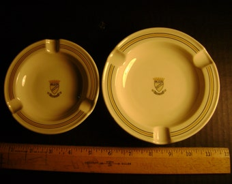 """2 Ashtrays from the King George Hotel Athens made in Bavaria Germany measure 5 3/4"""" and 4 3/4"""""""