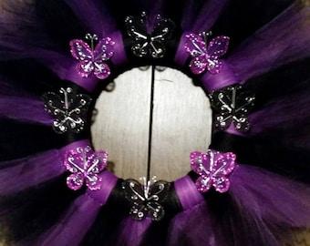 Glitter Butterfly Wreath