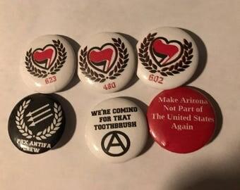 Phoenix Antifa Button Pack