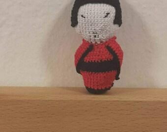 Japanese doll keychain