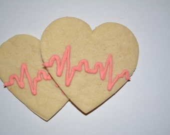Heartbeat Royal Icing Sugar Cookies